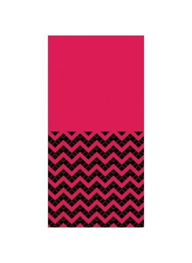 Artikel Siyah-Pembe Geometrik Çizgiler Dekoratif Çift Taraflı Yastık Kırlent Kılıfı 45x45 cm Renkli
